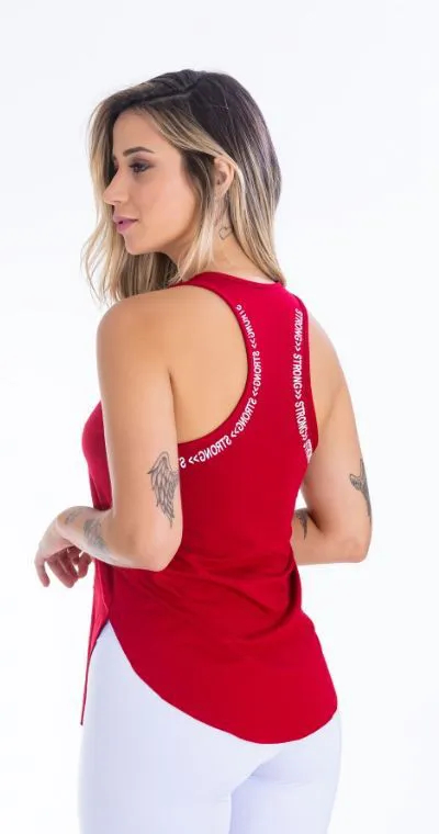 Camiseta Fitness Red Strong