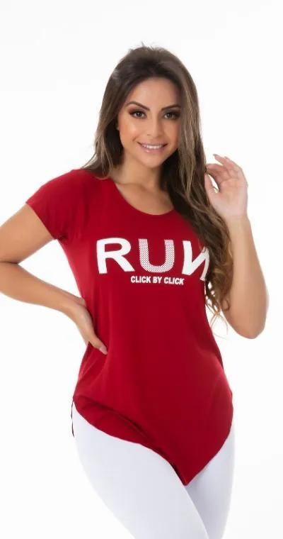 Blusa Fitness Run Grena