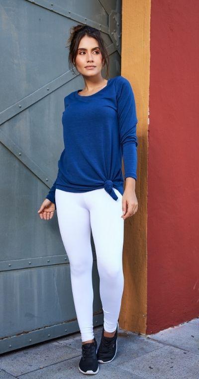 Blusa Moletinho com Elastano Click Azul