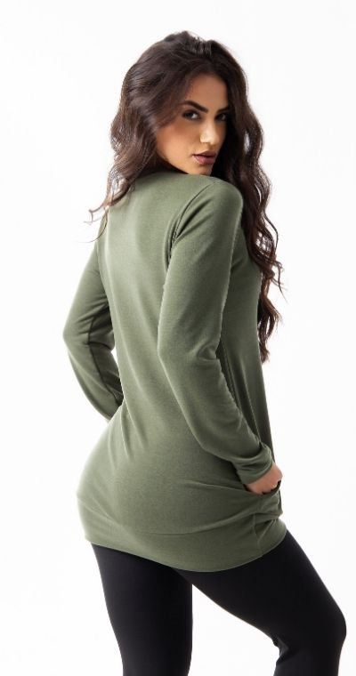 Blusa Moletinho Verde Clickmoda
