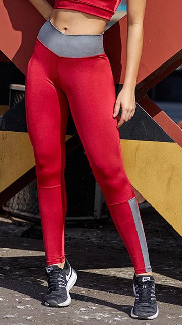 Calça Fitness Red  Gray Metal