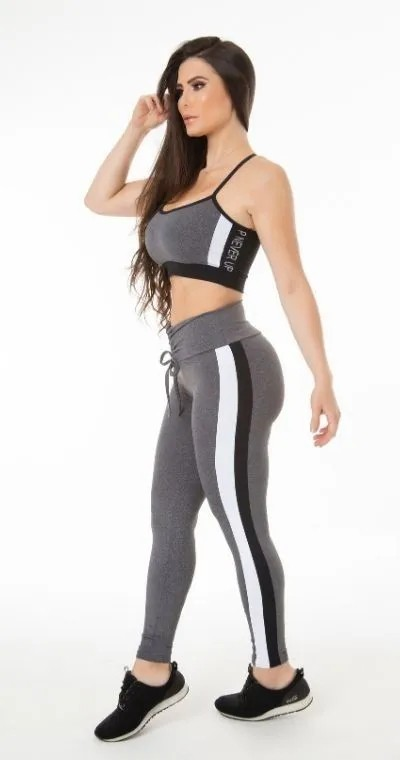 Calça Legging Fitness Mescla In Control