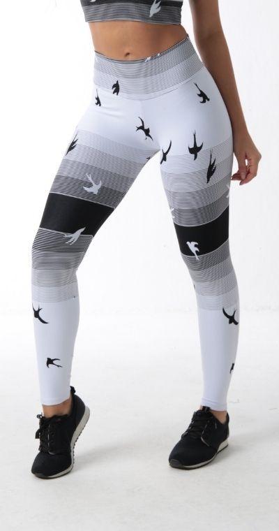 Calça Legging Jacquard Bird