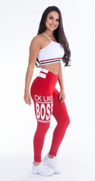 Calça Legging Poliamida RED BOSS