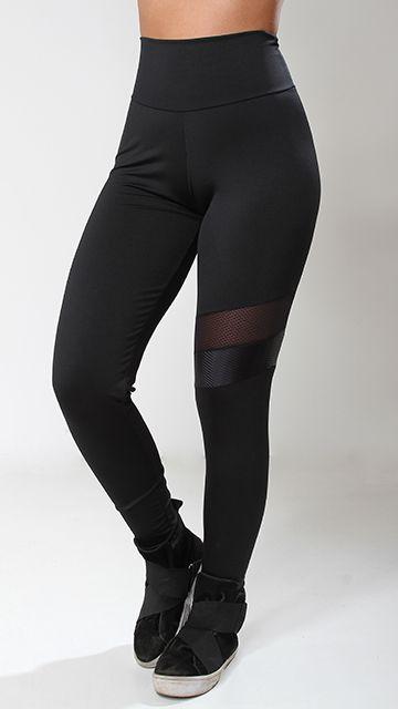 Calça Poliamida Black Recorte