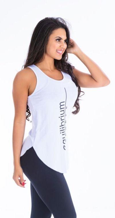 Camiseta Fitness Equilibrio Branca