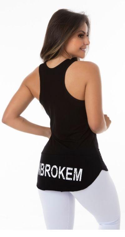 Camiseta Fitness Preta Umbroken
