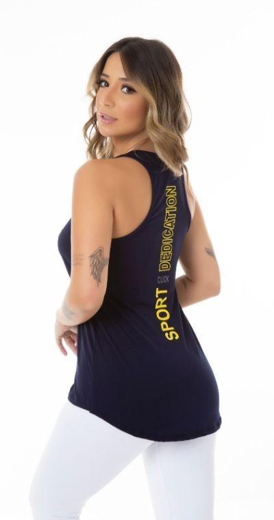 Camiseta Fitness Sport Blue