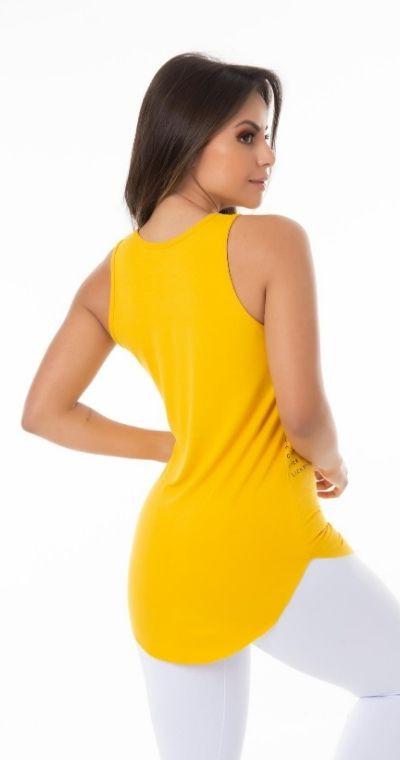 Camiseta Fitness Yellow Click