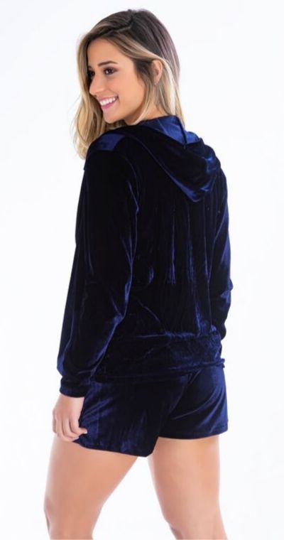 Casaco Plush Azul