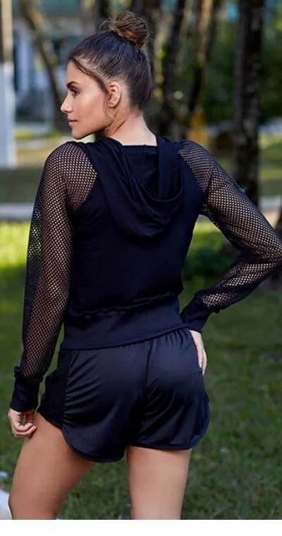 Casaco Tela Pierced Black