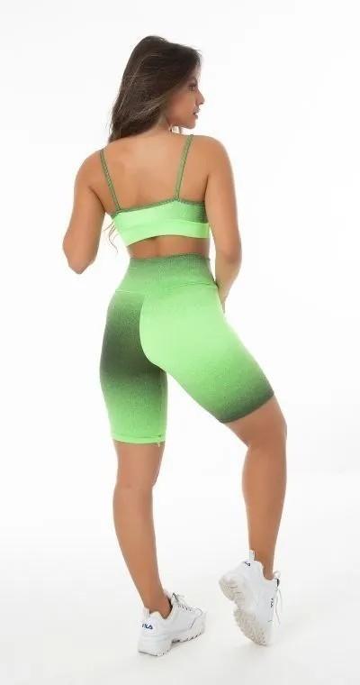 Conjunto Fitness Degradê Verde