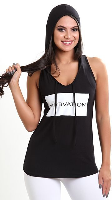 Camiseta Fitness Capuz Motivation