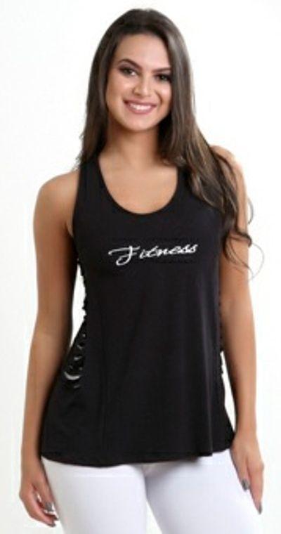 Camiseta Fitness Lateral Retalhada