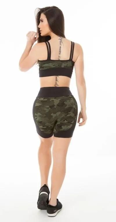 Short Fitness Camuflado Jacquard