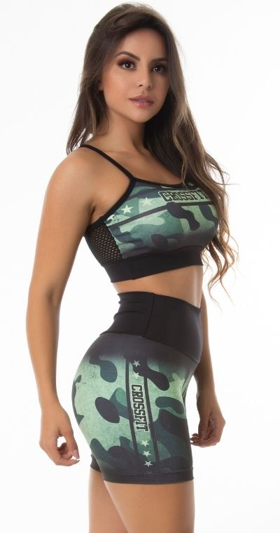 Short Fitness sublimado Camuflado