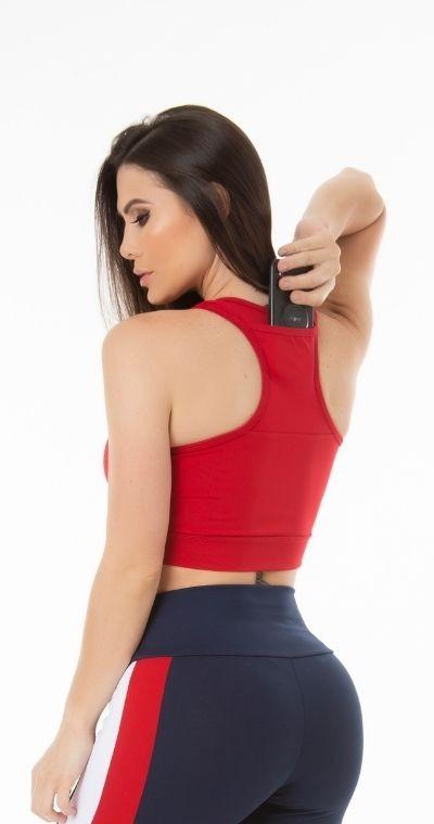Top Fitness Bolsinho  Costa Red