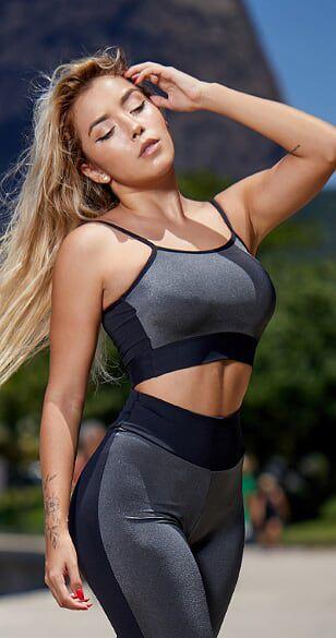 Top Fitness Metal Cinza