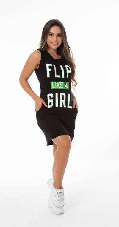 Vestido Flip Like Girl Preto