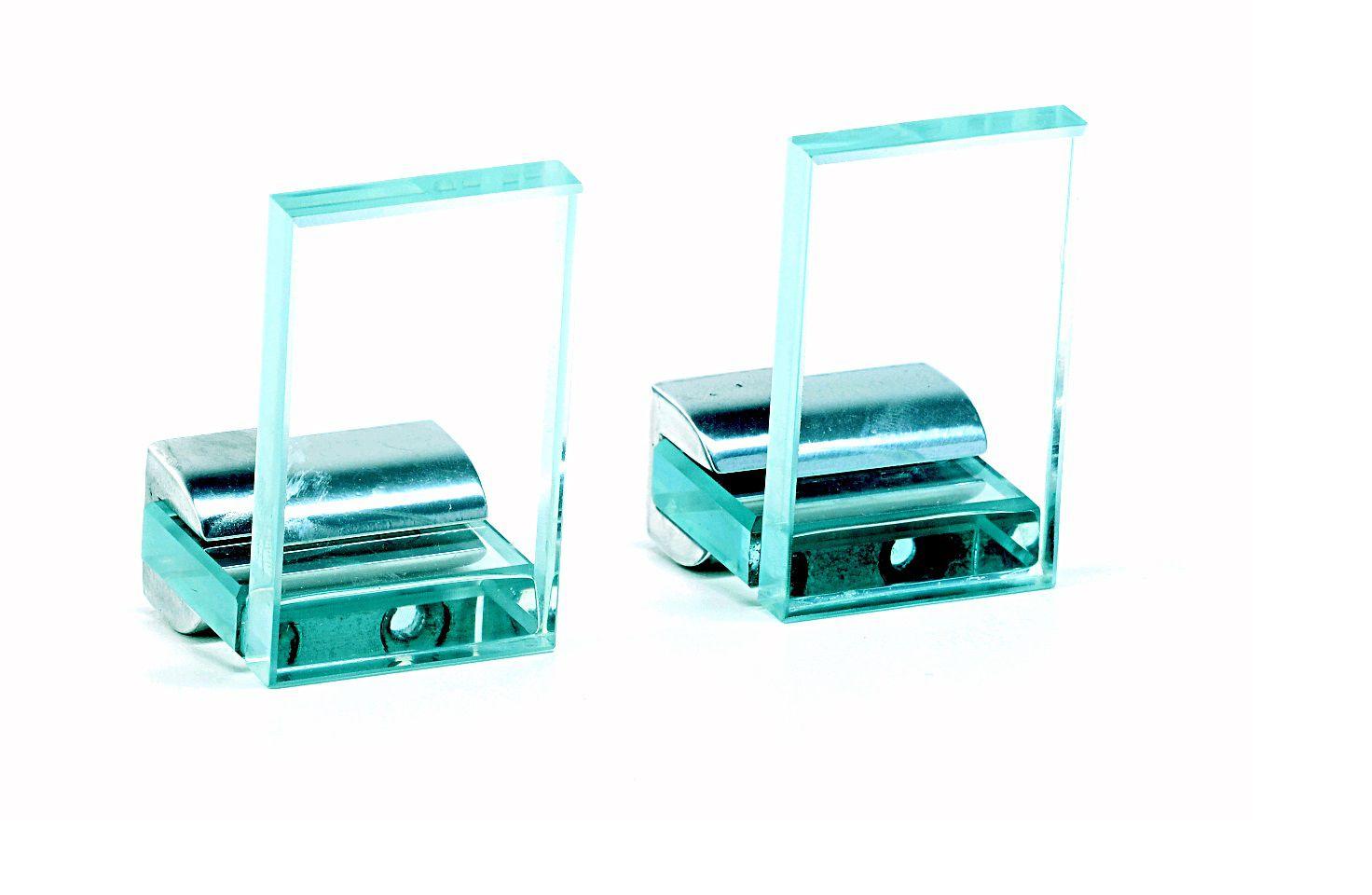 Cabideiros em Vidro Incolor 10mm Lapidado - Aquabox
