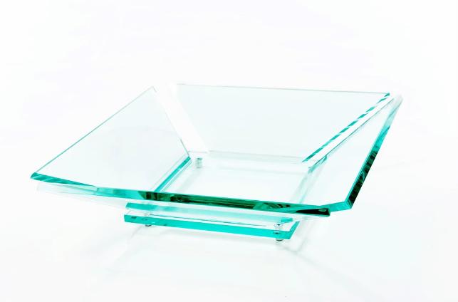 Fruteira Trevi em Vidro Incolor 10mm Lapidada - Aquabox