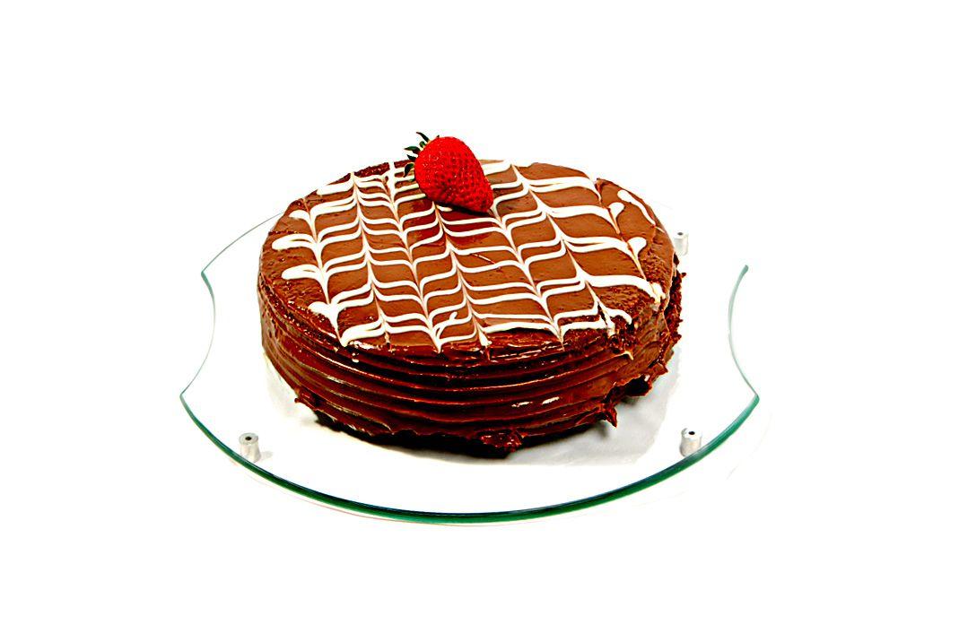 Jogo com 3 pratos para bolo redondos em vidro incolor 6mm temperado P 30cm M 35cm e G 40cm Aquabox
