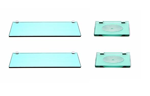 Kit 02 Porta Shampoo Verde 8mm + 02 Saboneteira Verde 8mm