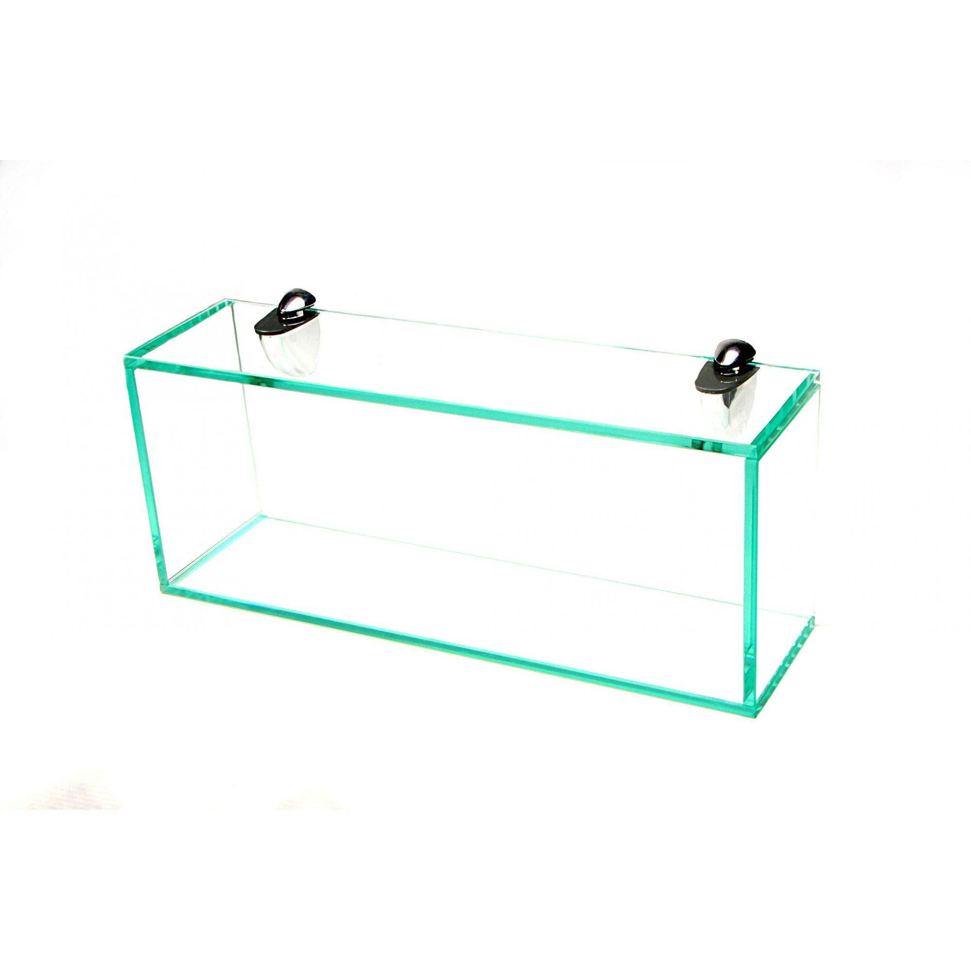 Nicho em Vidro Incolor 8mm com Suportes Tucanos - Aquabox  - 40cmx20cmx12cm