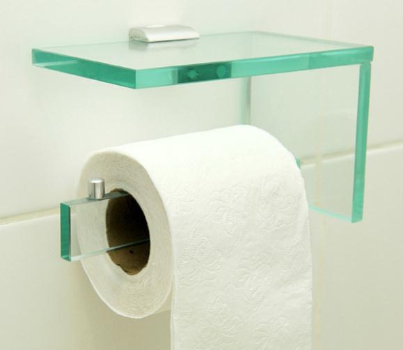 Papeleira em Vidro Incolor 10mm Lapidado - Aquabox