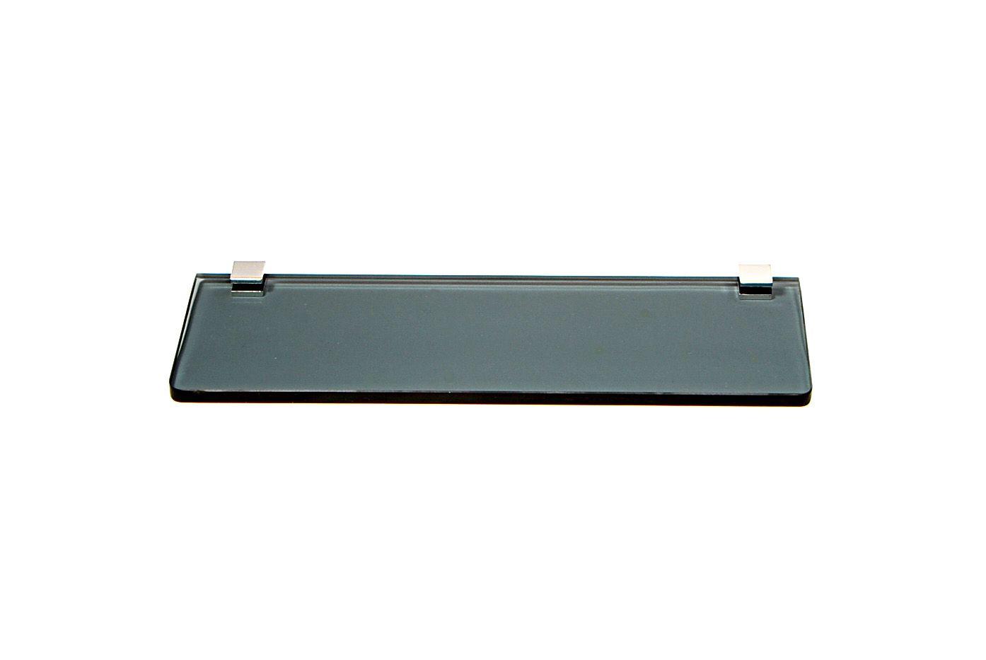Porta Shampoo Reto em Vidro Fumê Lapidado - Aquabox  - 30cmx9cmx8mm