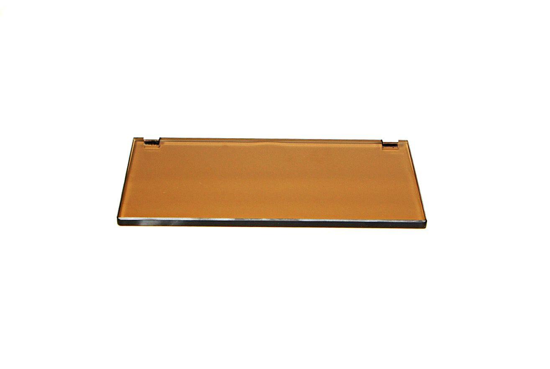 Porta Shampoo Reto em Vidro Bronze Lapidado - Aquabox  - 30cmx14cmx10mm