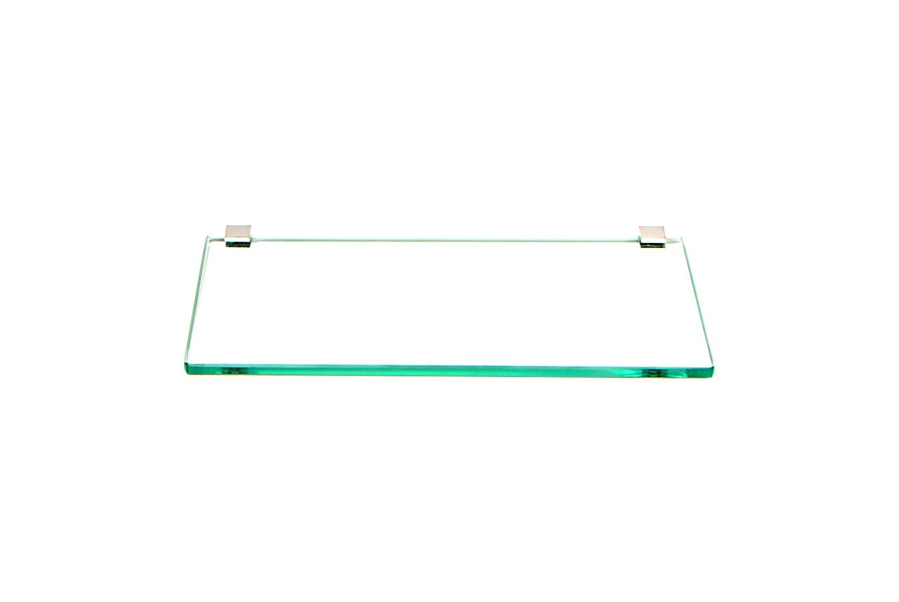 Porta Shampoo Reto em Vidro Incolor Lapidado - Aquabox  - 30cmx14cmx8mm