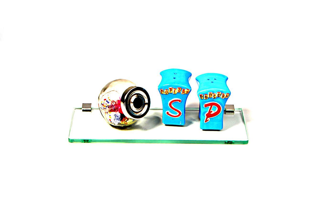 Porta Shampoo Reto em Vidro Incolor Lapidado - Aquabox  - 30cmx9cmx8mm