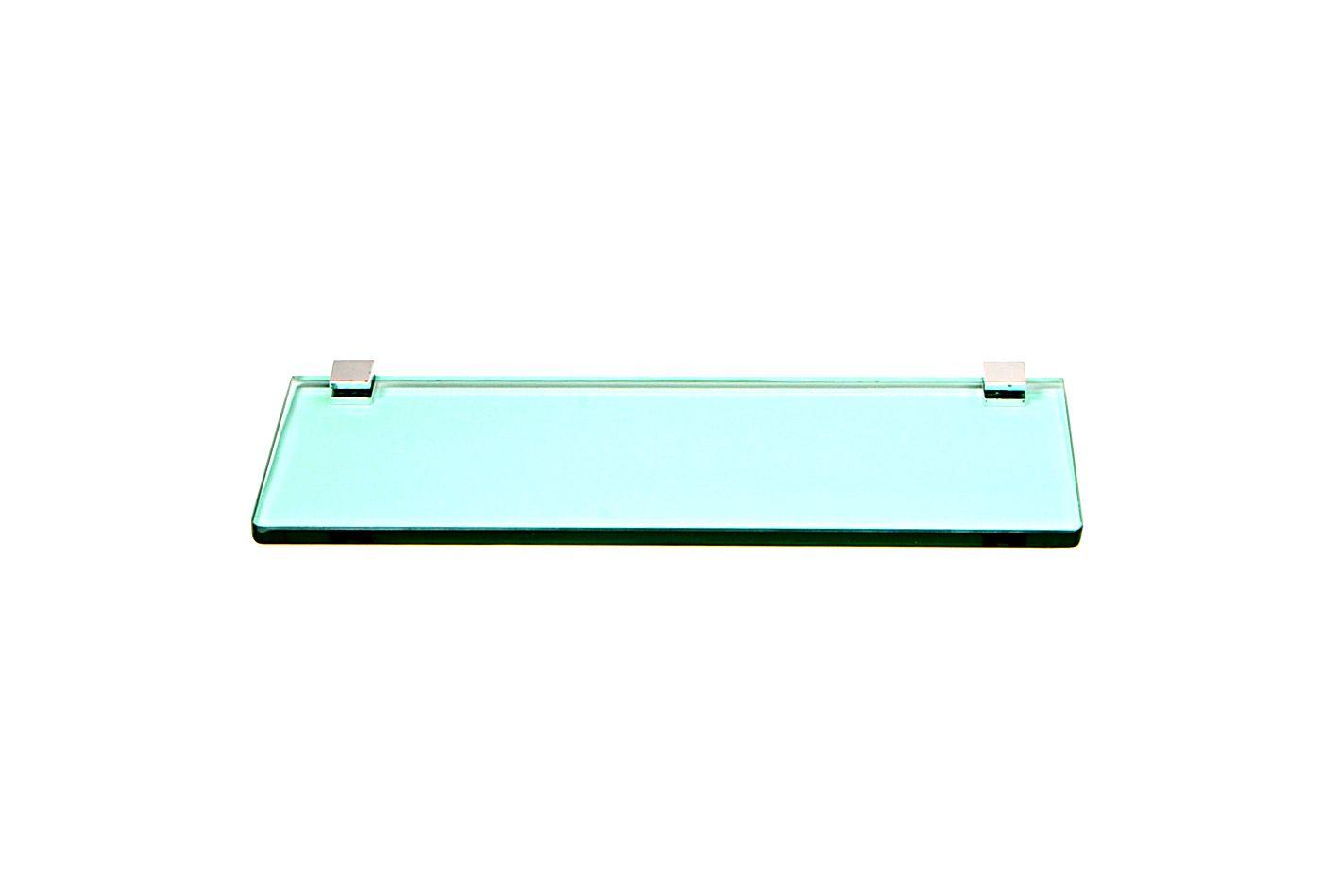 Porta Shampoo Reto em Vidro Verde Lapidado - Aquabox  - 30cmx9cmx8mm