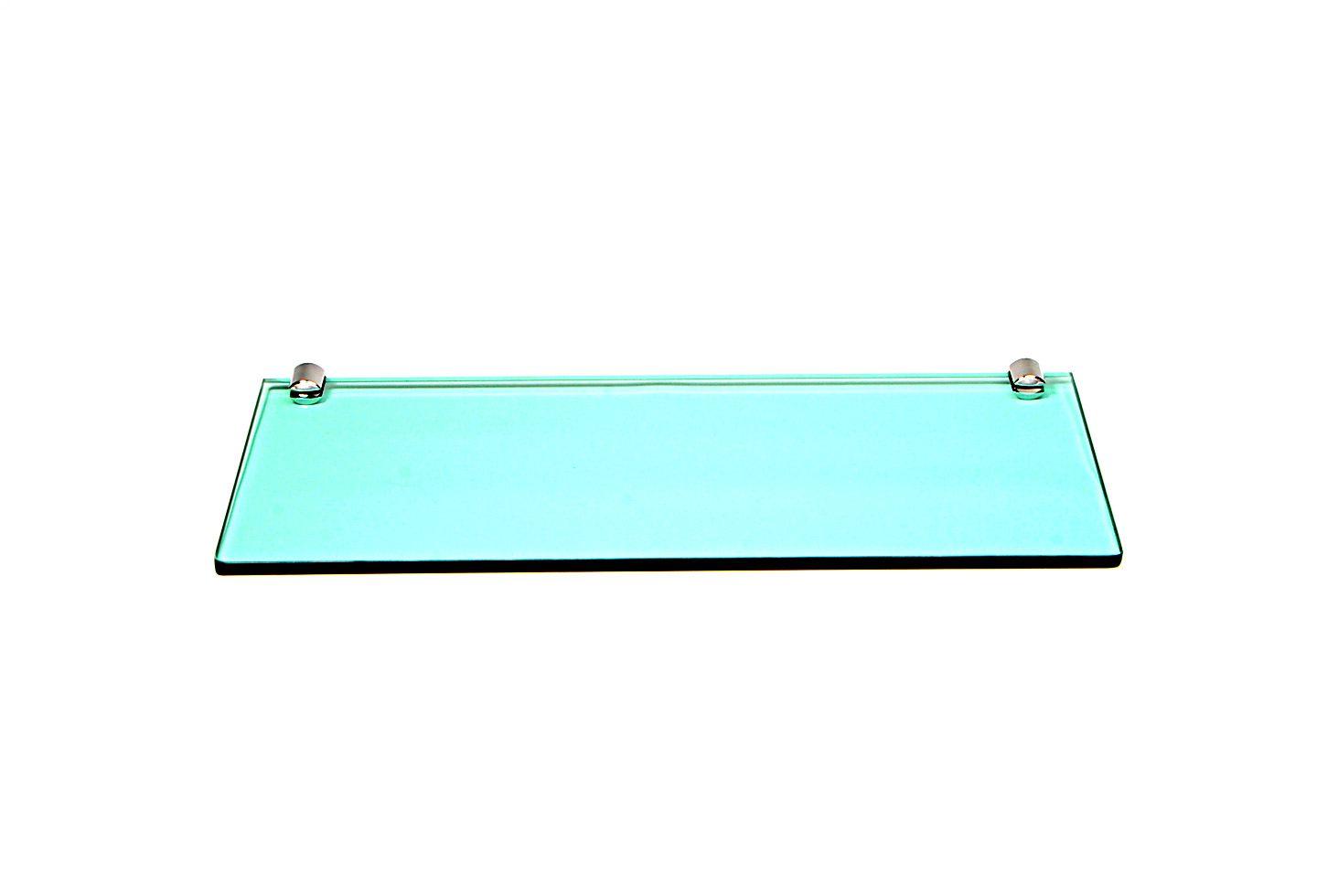Porta Shampoo Reto em Vidro Verde Lapidado - Aquabox  - 40cmx14cmx8mm