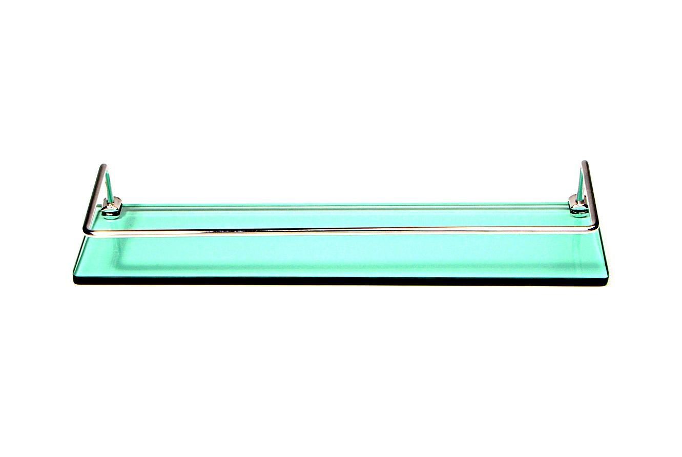 Porta Shampoo Reto em Vidro Verde Lapidado - Aquabox  - 40cmx9cmx8mm