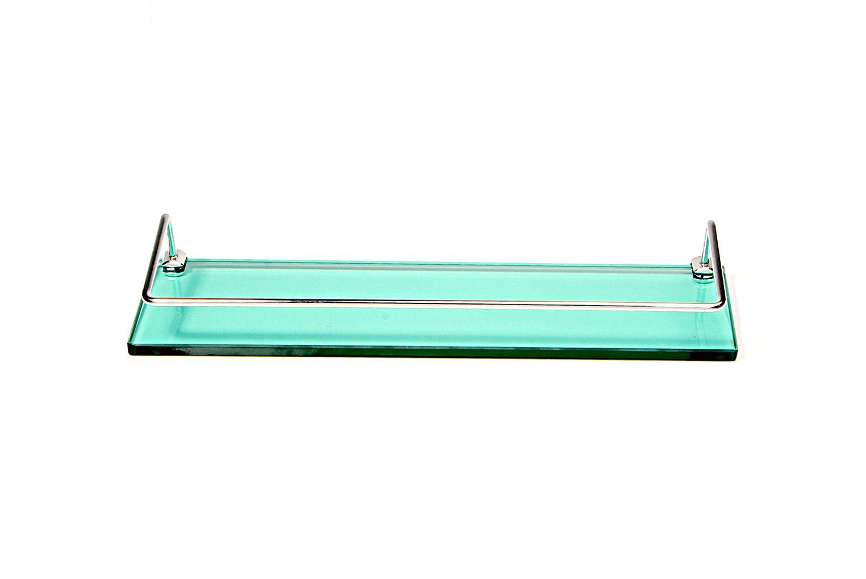 Porta Shampoo Reto em Vidro Verde Lapidado - Aquabox  - 40cmx9cmx10mm
