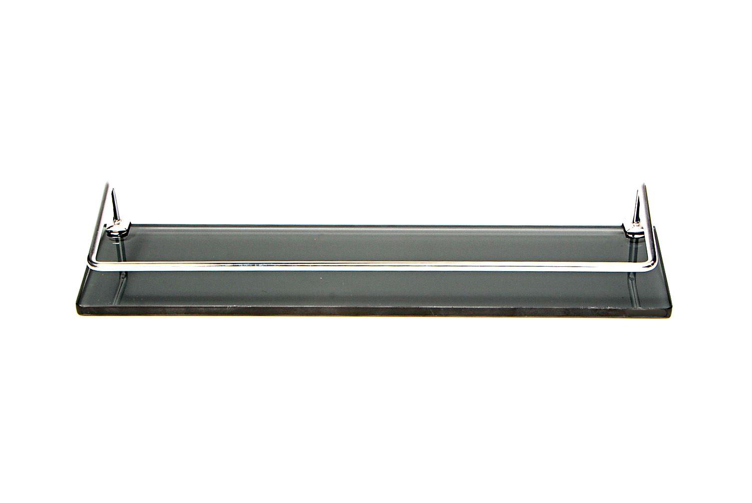 Porta Shampoo Reto em Vidro Fumê Lapidado - Aquabox  - 40cmx9cmx10mm