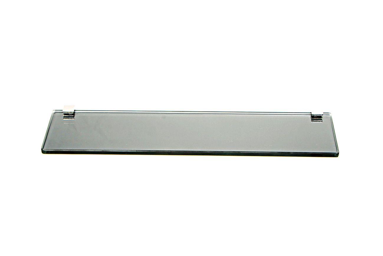 Porta Shampoo Reto em Vidro Refletivo Lapidado- Aquabox  - 40cmx9cmx8mm