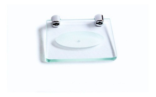 Saboneteira em Vidro Incolor Lapidado - Aquabox  - 10cmx10cmx6mm