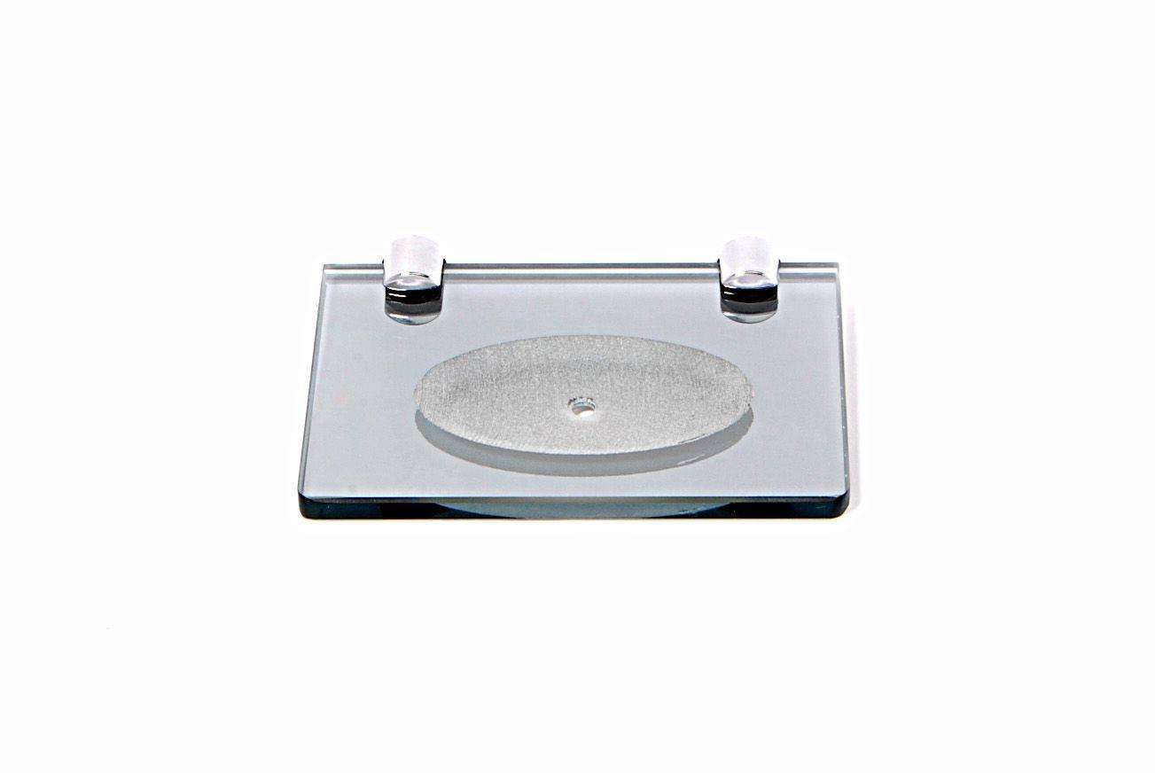 Saboneteira em Vidro Refletivo Lapidado - Aquabox  - 14cmx9cmx8mm.