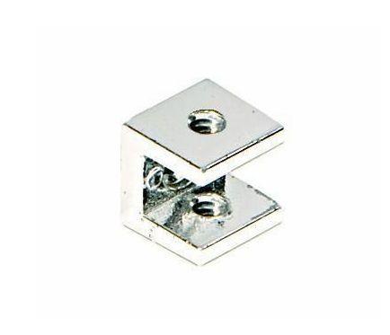 Suporte para Prateleira de Vidro Fenda Aramado Quadrado 8mm - Aquabox