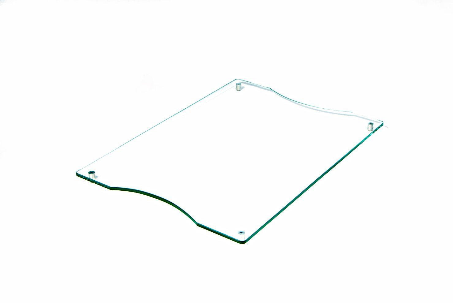 Tábua de frios grande incolor 6mm temperado 40cmx30cm Aquabox