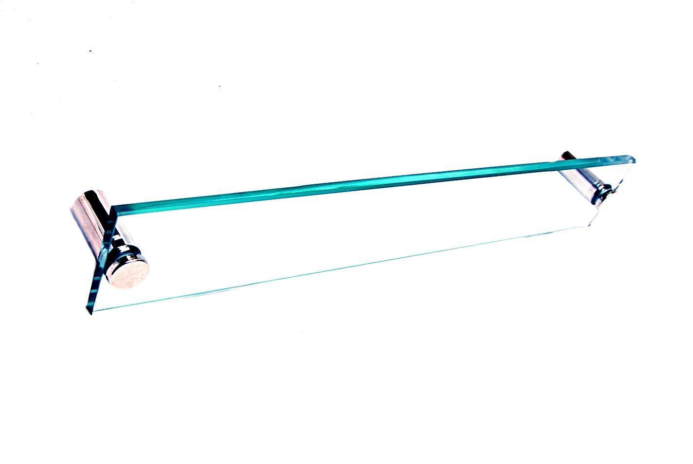 Toalheiro em Vidro Incolor Temperado - Aquabox  - 40cmx7cmx10mm