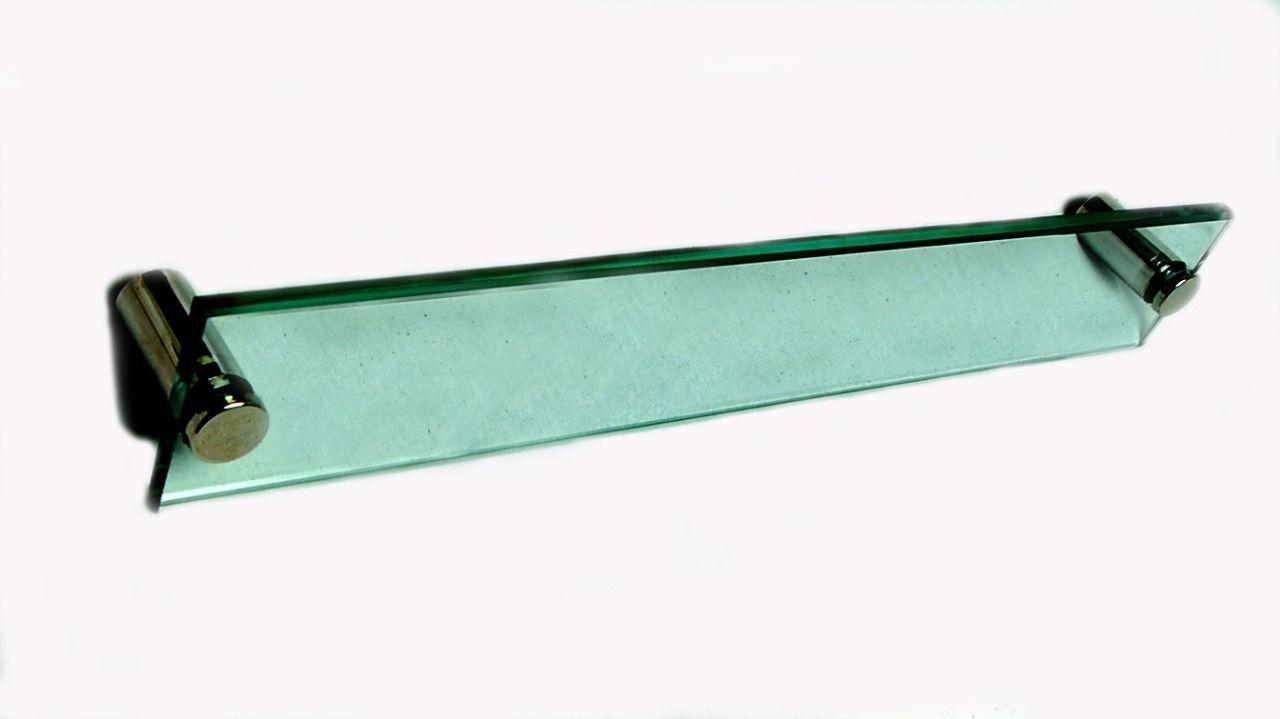 Toalheiro em Vidro Verde Temperado - Aquabox  - 40cmx7cmx10mm