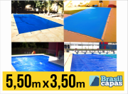 CAPA PARA PISCINA DE MEDIDA 5,50M X 3,50M - BRASIL CAPAS