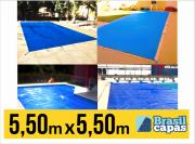 CAPA PARA PISCINA DE MEDIDA 5,50M X 5,50M - BRASIL CAPAS
