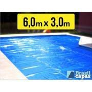Capa Termica Bolha 6,00 x 3,00 M - Brasil Capas- ( 500 MICRAS )