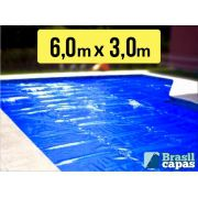 Capa Termica Bolha 6,00 X 3,00 M - Brasil Capas (300 MICRAS)