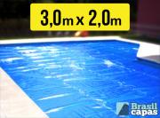 Capa Termica Bolha  3,00M X 2,000M - Brasil Capas ( 300 Micras )